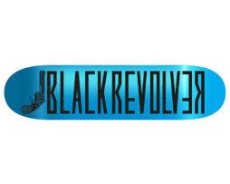 "Black Revolver tabla / deck / skateboard ""Classic Logo Light Blue"""
