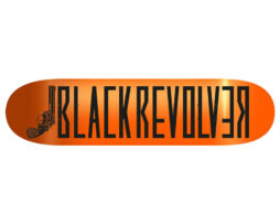 "Black Revolver tabla / deck / skateboard ""Classic Logo Orange Neon"""