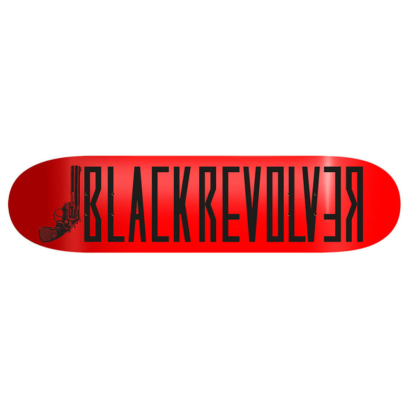 "Black Revolver tabla / deck / skateboard ""Classic Logo Red"""