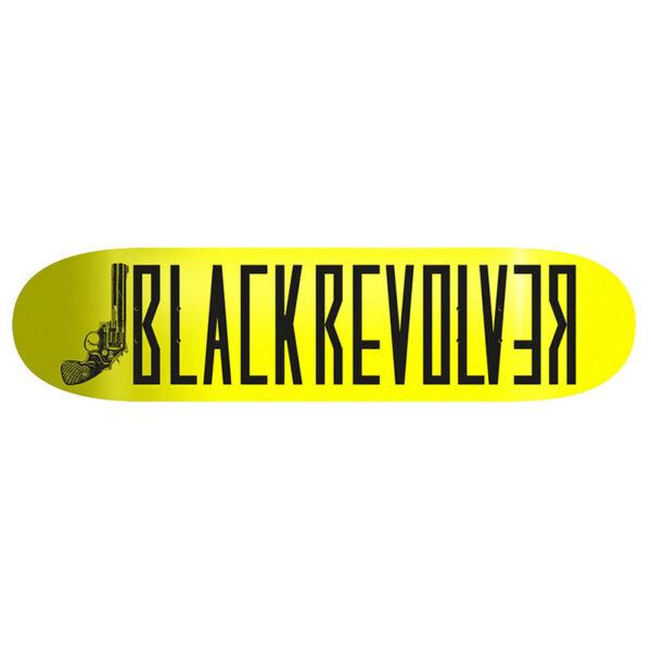 "Black Revolver tabla / deck / skateboard ""Classic Logo Yellow Neon"""