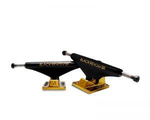 Black Revolver trucks black gold