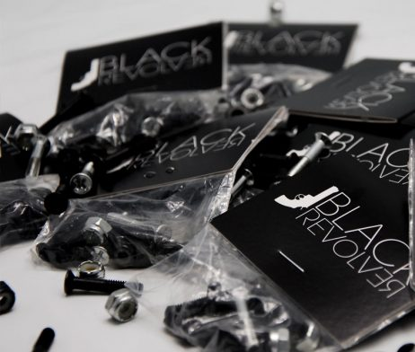 Black Revolver bolts / tornillos 2 chrome & 6 blacks