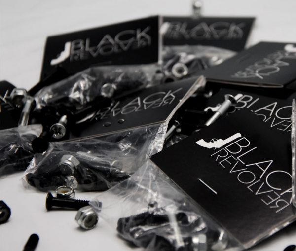 Black Revolver bolts / tornillos 2 chrome & 6 blacks
