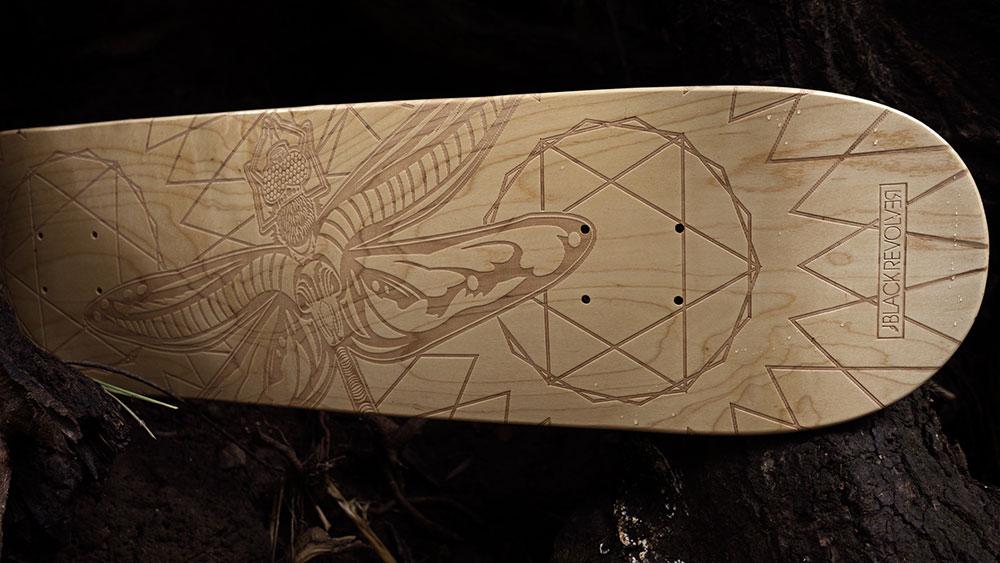 Black Revolver Animalia & Insecta Collective tabla / deck dragonfly catálogo no27