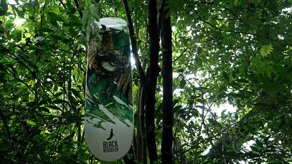 Black Revolver Animalia & Insecta Collective tabla / deck owl catálogo no30
