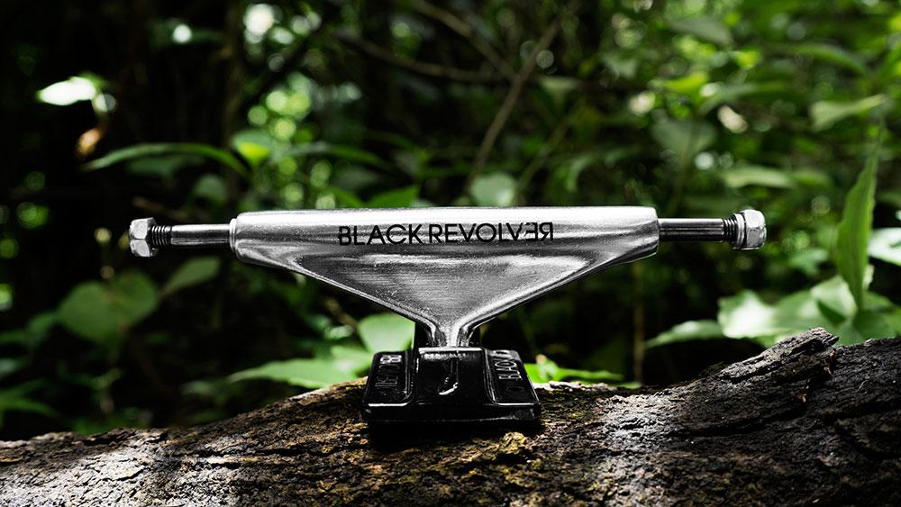 Black Revolver trucks black silver Animalia & Insecta Collective catálogo no36
