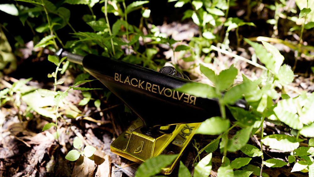 Black Revolver trucks black gold Animalia & Insecta Collective catálogo no37