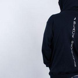 Black Revolver Apparel / Vertical Logo Hoodie