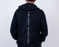 Black Revolver Apparel / Vertical Logo Hoodie featured