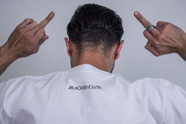 Black Revolver White Tee