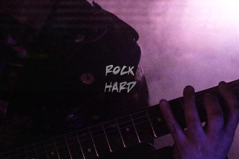 rock hard Black Revolver X Artefact Skate Guitar