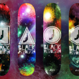 black revolver skateboard deck space