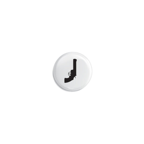 black revolver icon button pack 1""