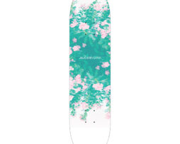 black revolver beautiful death deadly garden skateboard deck