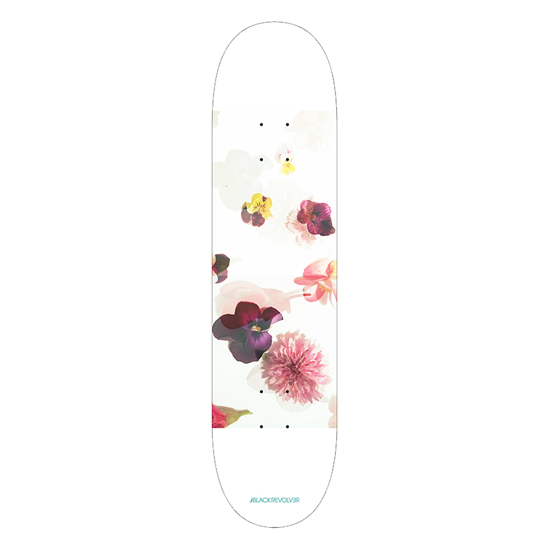 black revolver beautiful death toxic petals skateboard deck