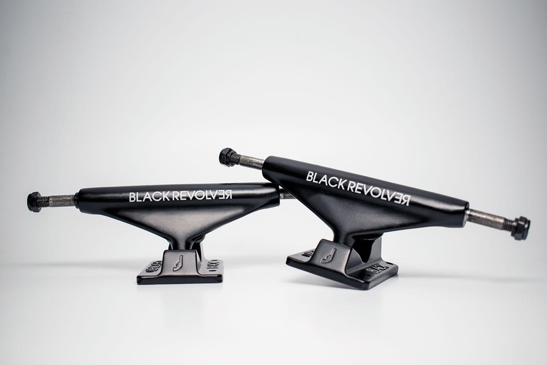 Black Matte Black Revolver Trucks