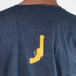 Black Revolver Logo blue marble Tshirt