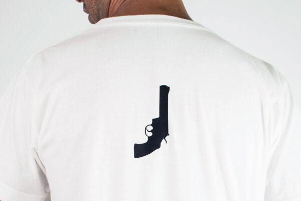 Black Revolver Logo White Tshirt