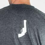 Black Revolver Logo grey Tshirt