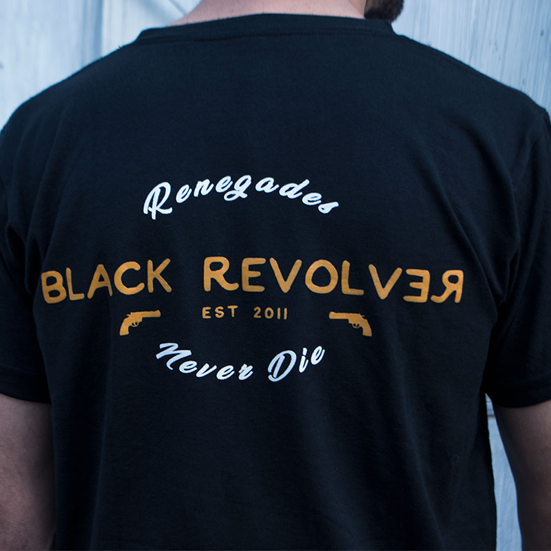 black revolver renegades never die t shirt